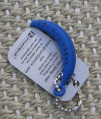As a side note: The little blue banana is travelling the world as a geocaching travelbug, see http://www.geocaching.com/track/details.aspx?guid=0bbfcf4f-c2e6-4f21-8539-ab73e54b9dfa
