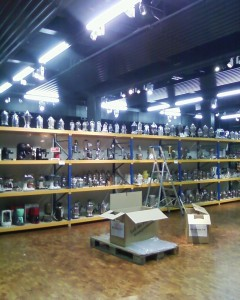 Working on an installation of 173 coffee makers. Still more to come...