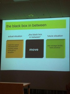 "The ""move"" as the black box between the old and the new storage."