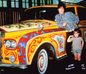 John and Julian Lennon beside Rolls 1967 thegilly.tumblr.com
