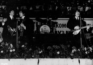 Beatles in Copenhagen at the KB June 4th, 1964  http://thegilly.tumblr.com