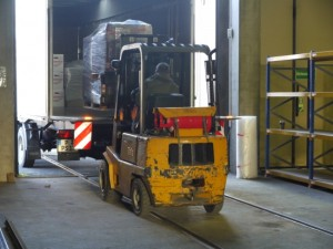 The forklift is indispensible in our storage facility. TECHNOSEUM, picture Bernd Kießling