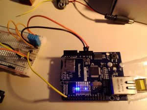 An Arduino with a LAN shield - a thing that can do MANY things