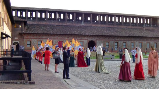 Colleagues enjoying the opening ceremony of ICOM 2016 Milano at Castello Sforzesco.