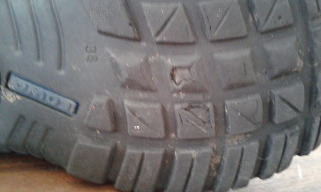 sole of a safety boot